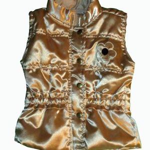 Macy's Kids Gold Puffer Vest 6-9 Mos NEW!
